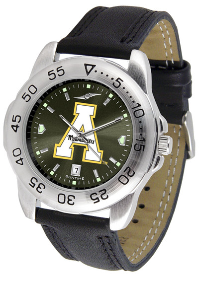 Appalachian State Mountaineers Men's Sport Leather AnoChrome Watch