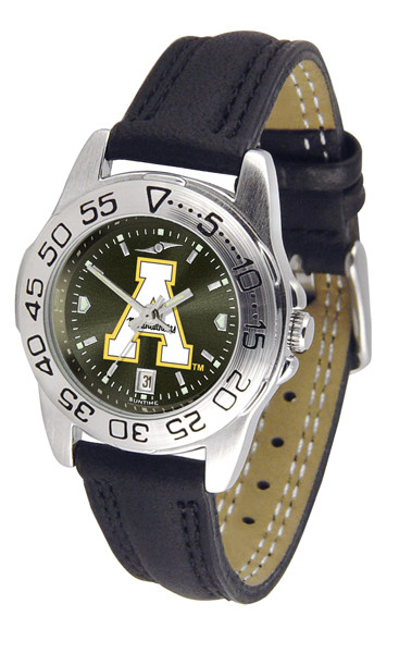 Appalachian State Mountaineers Ladies Sport Leather AnoChrome Watch