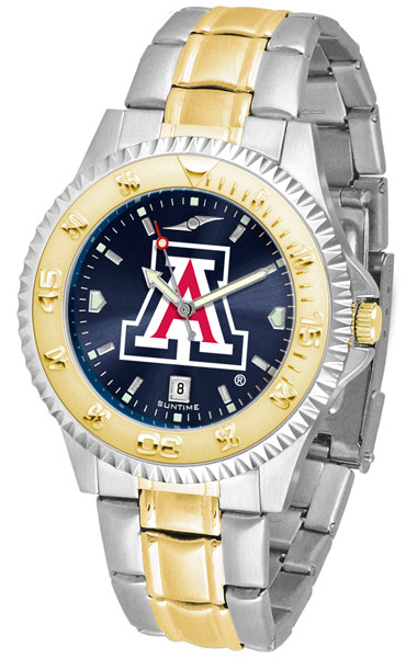 Arizona Wildcats Men's Competitor Two-Tone AnoChrome Watch