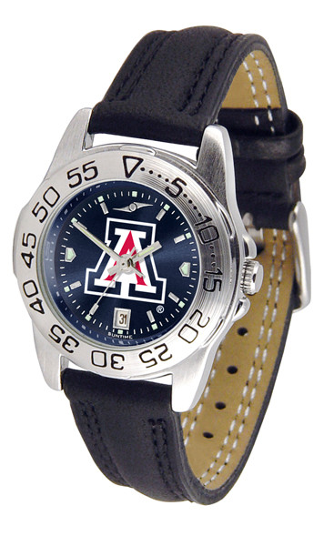 Arizona Wildcats Ladies Sport Leather AnoChrome Watch