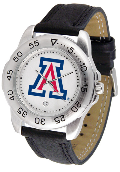 Arizona Wildcats Men's Sport Leather Watch