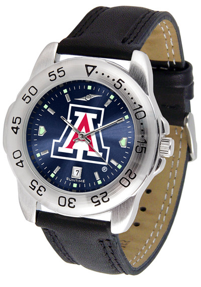Arizona Wildcats Men's Sport Leather AnoChrome Watch