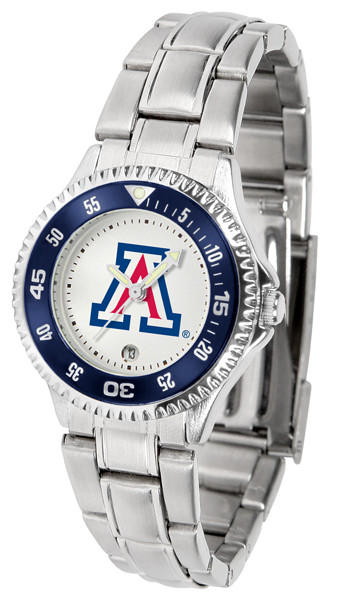 Arizona Wildcats Ladies Competitor Steel Watch