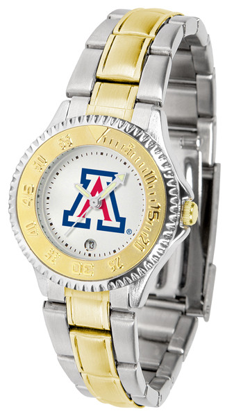Arizona Wildcats Ladies Competitor Two-Tone Watch