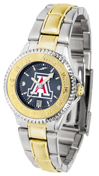 Arizona Wildcats Ladies Competitor Two-Tone AnoChrome Watch