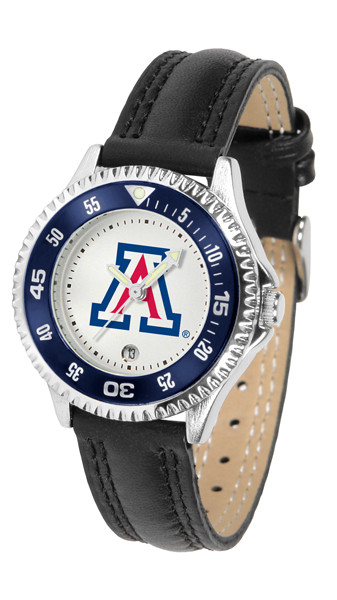 Arizona Wildcats Ladies Competitor Sport Leather Watch