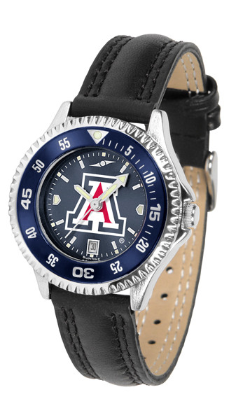 Arizona Wildcats Ladies Competitor AnoChrome Watch with Color Bezel