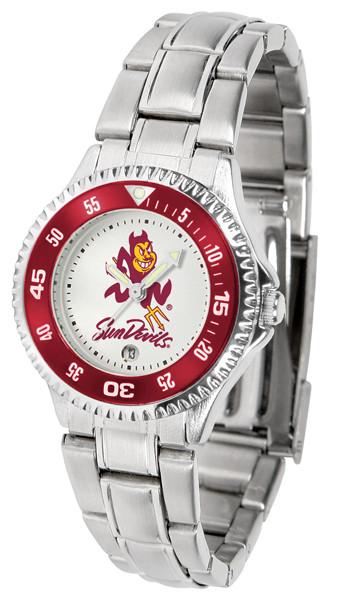 Arizona State Sun Devils Ladies Competitor Steel Watch