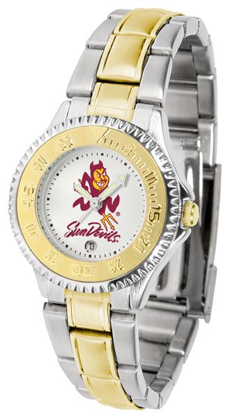 Arizona State Sun Devils Ladies Competitor Two-Tone Watch