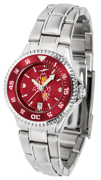 Arizona State Sun Devils Ladies Competitor Steel AnoChrome Watch with Color Bezel