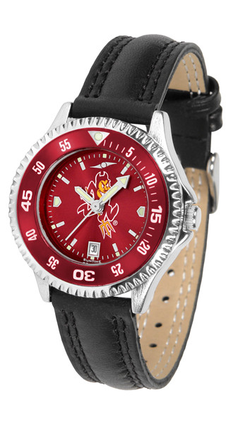 Arizona State Sun Devils Ladies Competitor AnoChrome Watch with Color Bezel