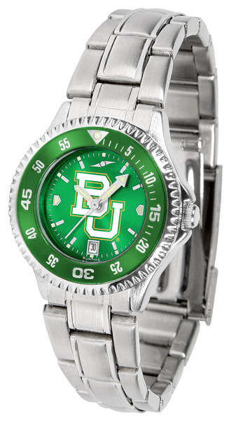 Baylor Bears Ladies Competitor Steel AnoChrome Watch with Color Bezel