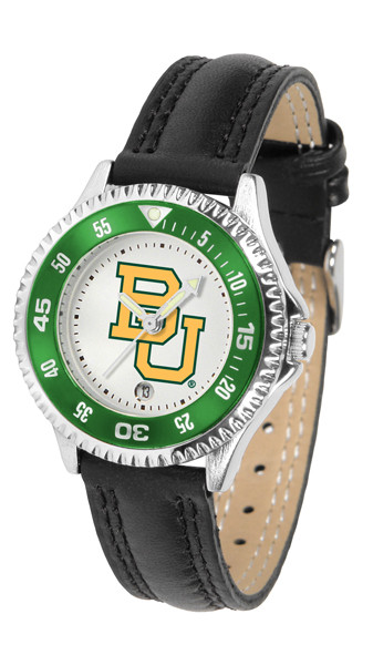 Baylor Bears Ladies Competitor Sport Leather Watch