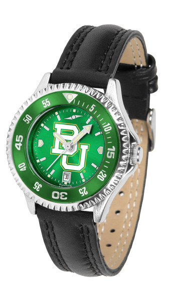 Baylor Bears Ladies Competitor AnoChrome Watch with Color Bezel