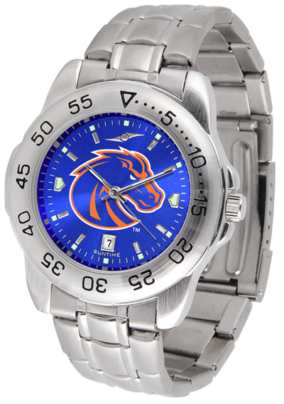 Boise State Broncos Sport Steel AnoChrome Watch | SunTime | ST-CO3-BSB-SPORTM-A