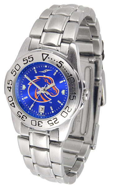 Boise State Broncos Ladies Sport Steel AnoChrome Watch | SunTime | ST-CO3-BSB-SPORTLM-A
