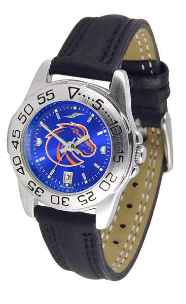 Boise State Broncos Ladies Sport Leather AnoChrome Watch | SunTime | ST-CO3-BSB-SPORTL-A