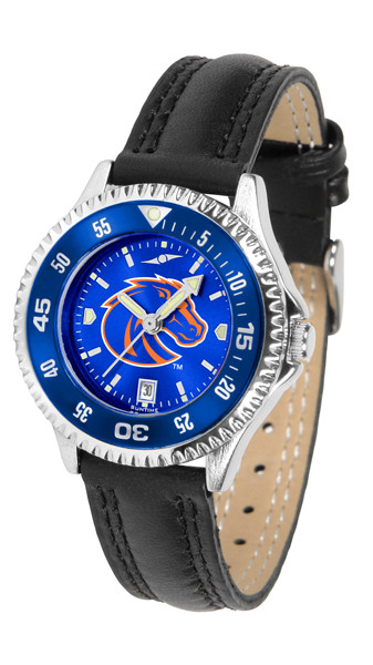 Boise State Broncos Ladies Competitor AnoChrome Watch with Color Bezel