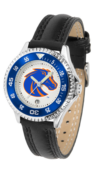 Boise State Broncos Ladies Competitor Sport Leather Watch