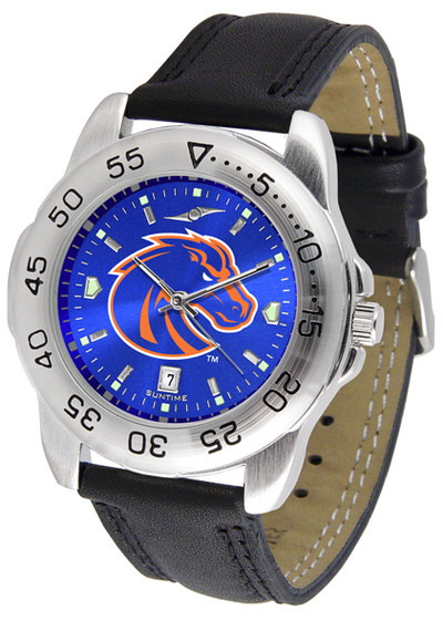 Boise State Broncos Men's Sport Leather AnoChrome Watch
