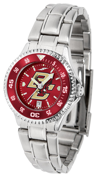 Boston College Eagles Ladies Competitor Steel AnoChrome Watch with Color Bezel