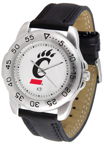 Cincinnati Bearcats Men's Sport Leather Watch