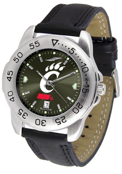 Cincinnati Bearcats Men's Sport Leather AnoChrome Watch