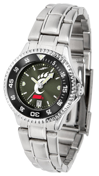 Cincinnati Bearcats Ladies Competitor Steel AnoChrome Watch with Color Bezel