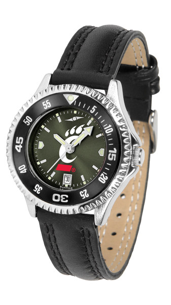 Cincinnati Bearcats Ladies Competitor AnoChrome Watch with Color Bezel
