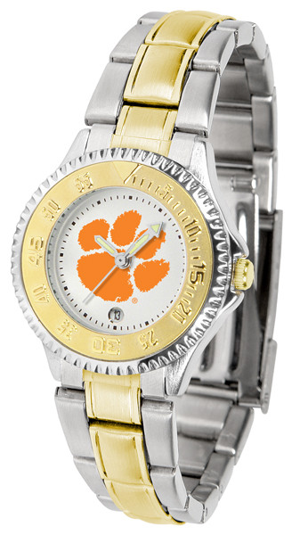 Clemson Tigers Ladies Competitor Two-Tone Watch | SunTime | ST-CO3-CLT-COMPLMG