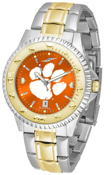 Clemson Tigers Men's Competitor Two-Tone AnoChrome Watch | SunTime | st-co3-clt-compmg-a