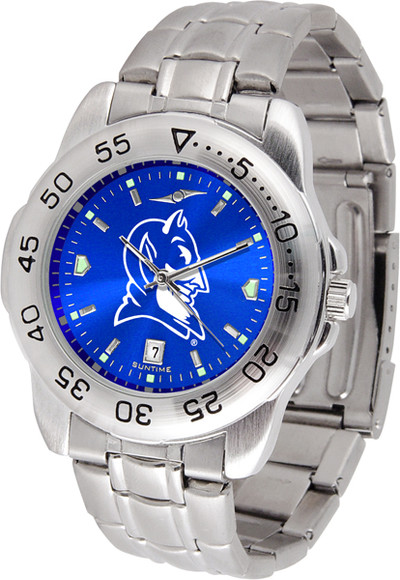 Duke Blue Devils Sport Steel AnoChrome Watch
