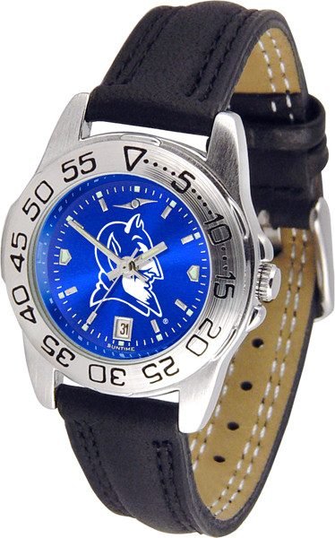 Duke Blue Devils Ladies Sport Leather AnoChrome Watch