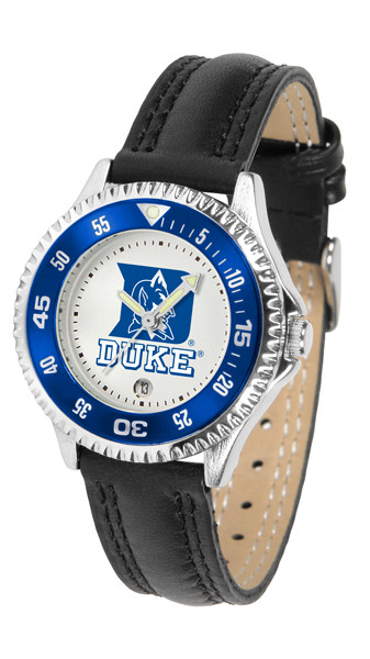 Duke Blue Devils Ladies Competitor Sport Leather Watch