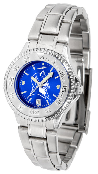 Duke Blue Devils Ladies Competitor Steel AnoChrome Watch