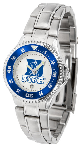 Duke Blue Devils Ladies Competitor Steel Watch