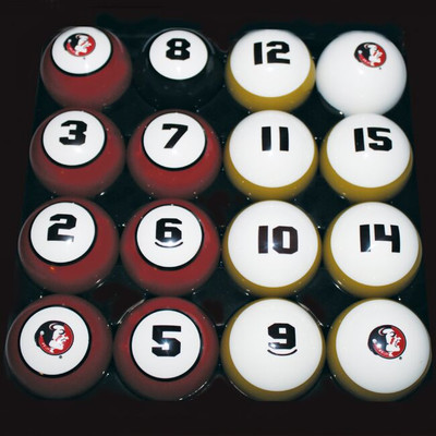 FSU Seminoles Billiard Pool Ball Set | Hood Leather | 11950-FSU
