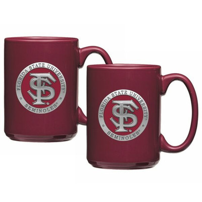 FSU Seminoles Coffee Mug Set of 2 | Heritage Pewter | CM10265ERBG