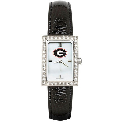 Georgia Bulldogs Women's Allure Black Leather Strap Watch