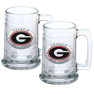 Georgia Bulldogs Beer Mug Set of Two