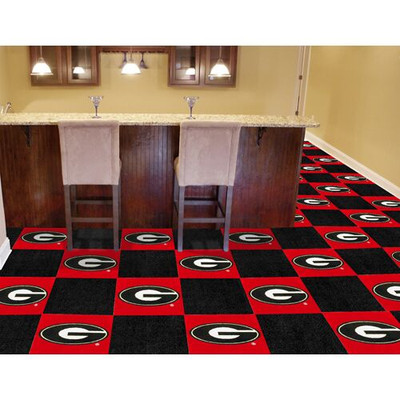 Georgia Bulldogs Carpet Tiles
