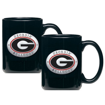 Georgia Bulldogs Coffee Mug Set of 2