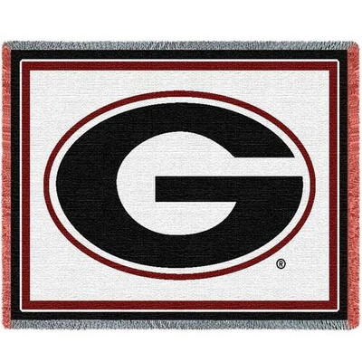 Georgia Bulldogs Logo Stadium Blanket