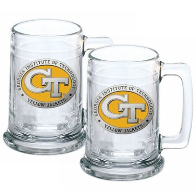 Georgia Tech Yellow Jackets Beer Mug Set of Two