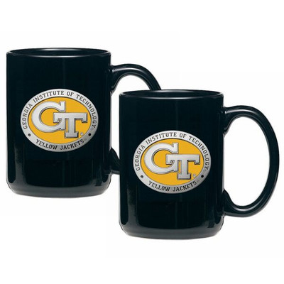 Georgia Tech Yellow Jackets Coffee Mug Set of 2