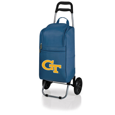 Georgia Tech Yellow Jackets Rolling Cart Cooler | Picnic Time | 545-00-138-194-0