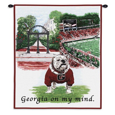 Georgia Bulldogs Tapestry Wall Hanging