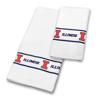 Illinois Fighting Illini Bath Towel Set