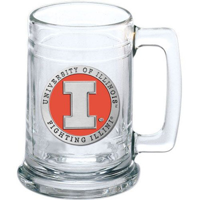 Illinois Fighting Illini Beer Mug Set of Two