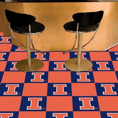 Illinois Fighting Illini Carpet Tiles